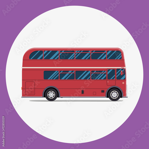 London bus sity transportation. Modern flat design Poster