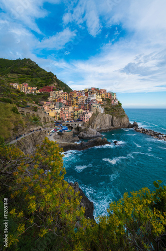 Fototapety, obrazy: Cinque Terre, Liguria (Italy) - This is the town of Manarola