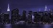 New York City manhattan skyline evening