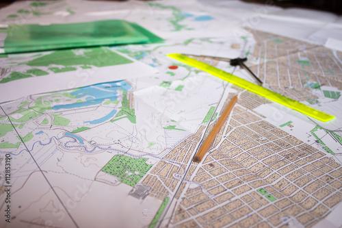 Fotografie, Obraz  обзорные схемы и схемы расположения проектируемого участка объекта