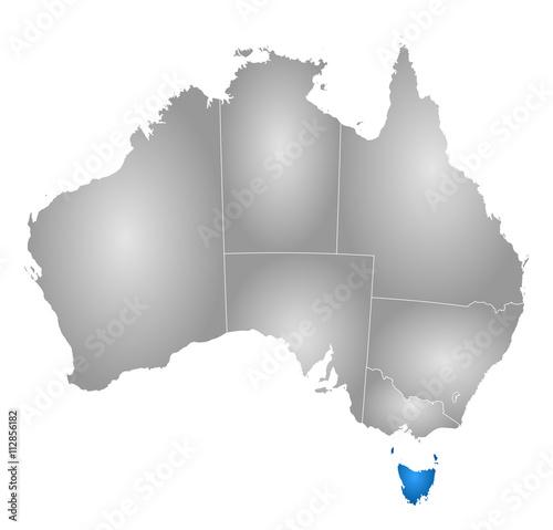 Map Of Australia And Tasmania.Map Australia Tasmania Buy This Stock Vector And Explore