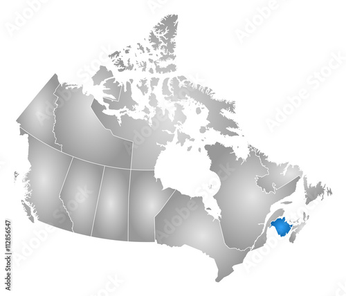 Map Of Canada New Brunswick.Map Canada New Brunswick Buy This Stock Vector And Explore