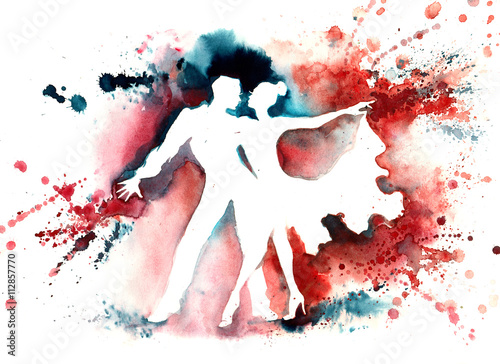 Foto auf Leinwand Gemälde tango