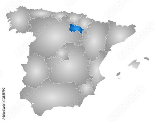 Map Of Spain Rioja.Map Spain La Rioja Buy This Stock Vector And Explore Similar