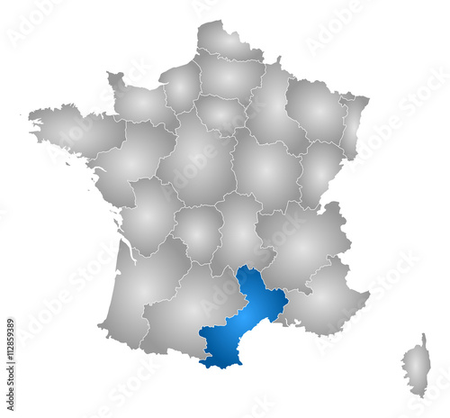 Roussillon France Map.Map France Languedoc Roussillon Buy This Stock Vector And