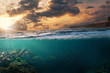 canvas print picture - Sonnenuntergang im Paradies