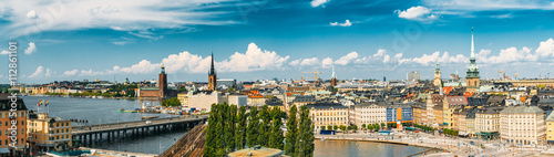 Foto op Canvas Stockholm Scenic summer scenery of the Old Town in Stockholm, Sweden