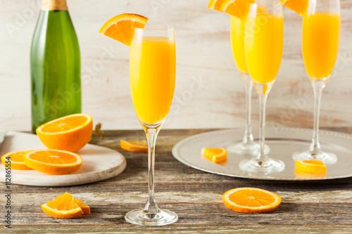 Homemade Refreshing Orange Mimosa Cocktails Tablou Canvas
