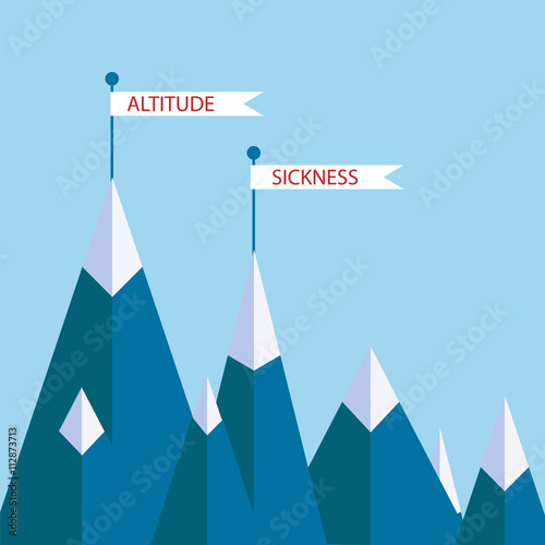 altitude sickness mountains Canvas Print