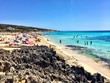 Cristal blue water in Es Arenal Formentera Spain