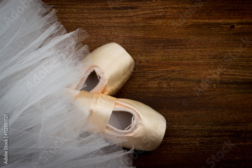Fotografie, Obraz  pointe shoes on the background Tutu