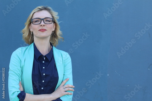 Fotografie, Obraz  Successful businesswoman in suit with arrogant expression
