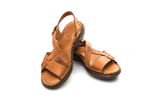 Leather Sandals Isolated