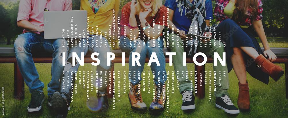 Fototapety, obrazy: Inspiration Aspiration Imagination Inspire Dream Concept