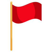 Red Soccer Corner Flag Icon, C...