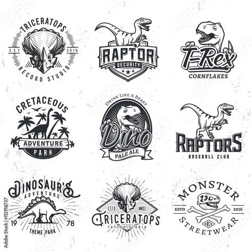 Obraz na plátně  Set of Dino Logos