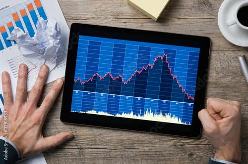 Fotografía  Stock market crash