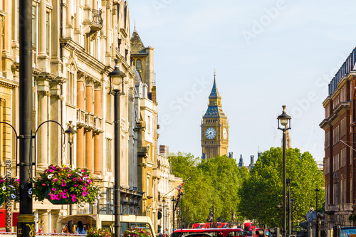 View of Big Ben from Trafalgar Square, London - 112917328