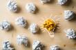 Leinwanddruck Bild - Papierkugeln als Symbol für Ideen
