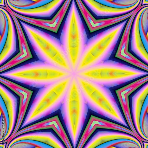 Photo Stands Psychedelic Абстрактный разноцветный фон.