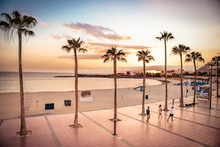 Sunset At Playa De Amadores In...