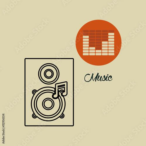 Fototapety, obrazy: Music design. speaker icon.  White background , vector