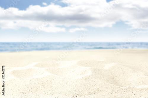 Garden Poster White beach background