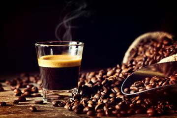 Fototapeta Kawa espresso and coffee grain