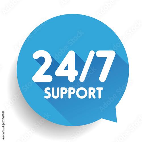 Fényképezés  Blue 24/7 Support button