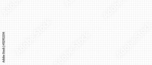 Fotografie, Obraz  Weißes kariertes Papier nahtlos