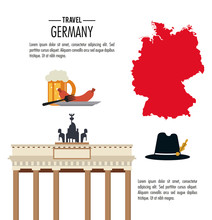 Germany Design. Culture Icon. Vector Illustration