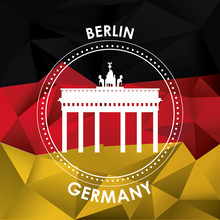 Germany Design. Culture Icon. Flat Illustration, Vector Graphic