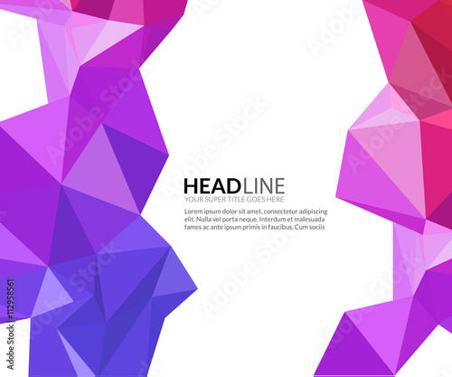 Abstract vector faceted polygonal triangle modern background Canvas-taulu