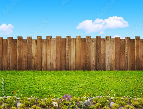 Papiers peints Jardin garden fence