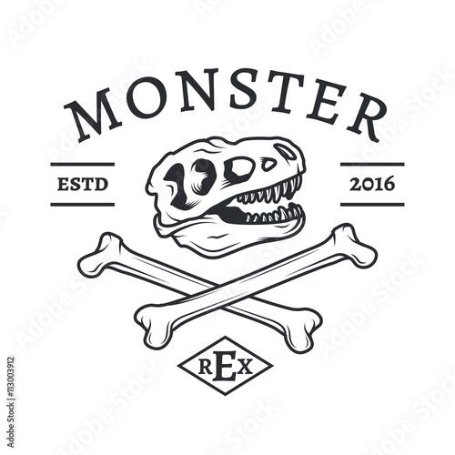 Fototapeta  T-rex logo vector