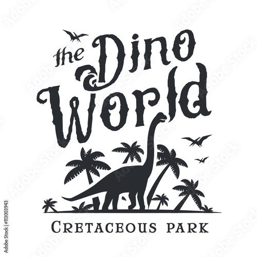 Fotografie, Obraz  Dino world logo template