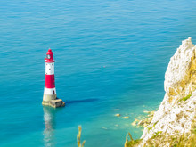 Aerial View On Beachy Head Lighthouse, Eastbourne