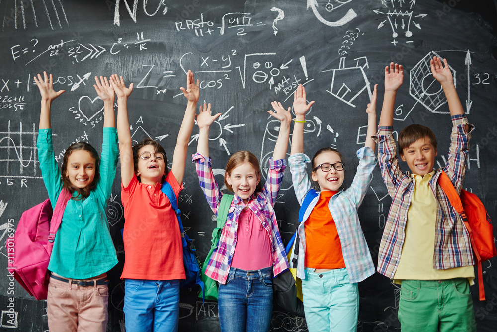 Fototapeta Children at school