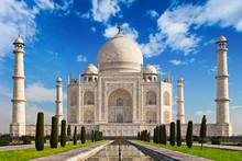Taj Mahal In Sunrise Light