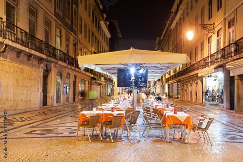 Photo  Street cafe, Lisbon