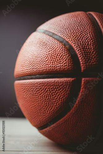Close up of basketball Canvas Print