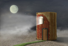 Concept Of Reading. MaConcept Of Reading. Magic Book With Door A