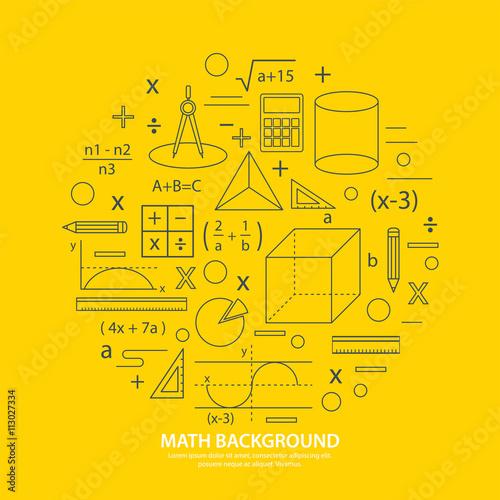 Fotografie, Obraz  math icon background