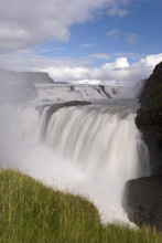 Gullfoss, Iceland's Most Famous Waterfall Tumbles 32m Into A Steep Sided Canyon, Golden Circle, Iceland