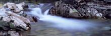 River Nevis Flowing Between Rocks, Glen Nevis, Near Fort William, Western Highlands, Scotland