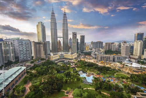 Photo Stands Kuala Lumpur Kuala Lumpur, Malaysia city skyline.