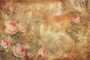 Vintage Background - Floral...