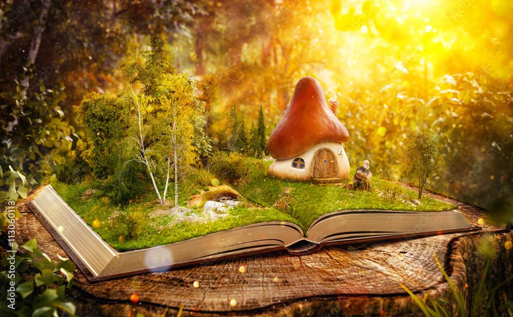 Fototapeta Magical mushroom house