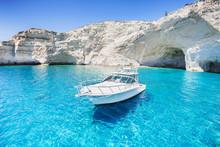 Sailboat In A Beautiful Bay, M...