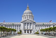 City Hall And Civic Centre, Built In 1915 In The French Baroque Style By Architects Brown And Bakewell, San Francisco, California